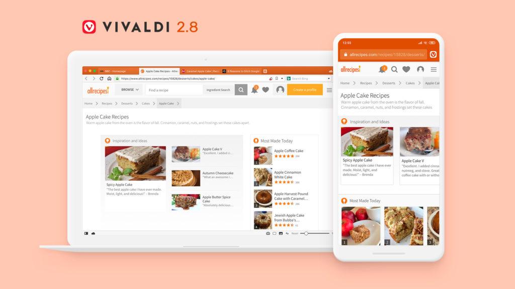 Vivaldi für Desktop und Android